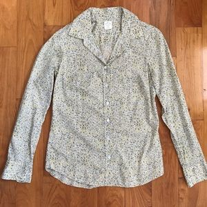 J crew floral button down, 0